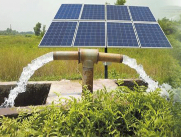 alat pertanian otomatis solar panel pump