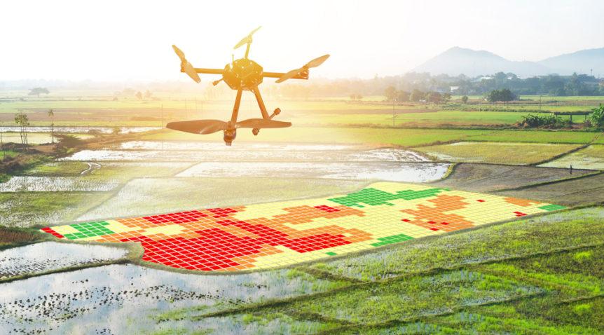 Drone mapping/pemetaan wilayah menggunakan drone   Gambar: Shiny Drone